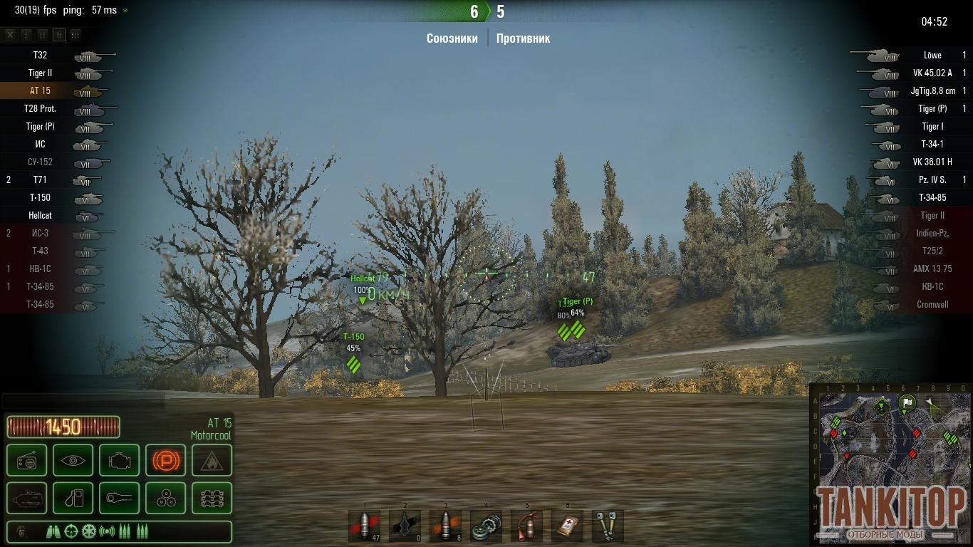 прицелы mod world of tanks