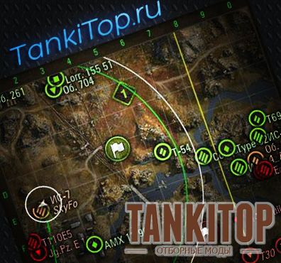 Мод ХП на миникарте для World of Tanks 0.9.10