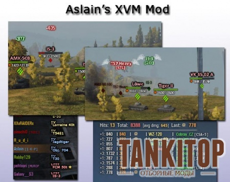XVM Aslain для World of Tanks 0.9.2