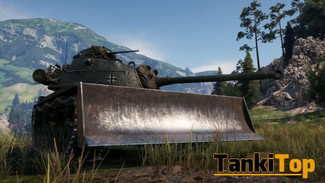 Танк с ковшом в World of tanks - M48A2 Räumpanzer